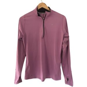 Nike Size Medium Lilac Sports Top Long Sleeve Thumb holes